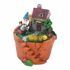"Buy *18280U - Terra Cotta Pot Gnome Garden Figurine 6 3/4"" Solar Light Up Statue"