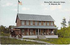 Buy Dining Hall, Alexander Camps, N. Belgrade, ME Vintage Postcard