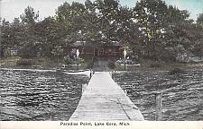 Buy Paradise Point, Lake Cora Michigan Vintage Postcard