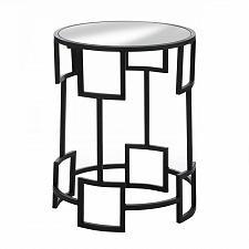Buy *18503U - Modern Round Black Iron Side Table