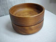 Buy BARIBOCRAFT CANADA WOOD SALAD SNACK BOWLS Stacking SET of 2 Mid Century Mod