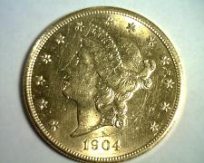 Buy 1904 TWENTY DOLLAR LIBERTY GOLD UNCIRCULATED+ UNC.+ NICE ORIGINAL COIN BOBS COIN