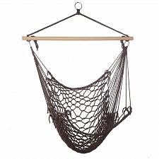 Buy *15979U - Espresso Woven Rope Hammock Chair
