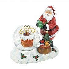 Buy *18551U - Santa & Chimney LED Light Up Snow Globe Figurine