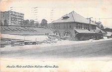 Buy Amelia Flats and Union Railroad Station, Akron Ohio Vintage Postcard