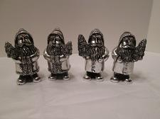 Buy x12W Set of 4 silver metal Old World Santa Place Card Holders Xmas trees