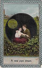 Buy A New Pipe Dream Couple Vintage Romance Postcard