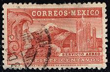 Buy Mexico #C68 Eagle Man & Popocatepelt Volcano; Used (2Stars) |MEXC068-03XRS