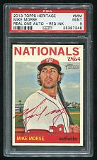 Buy 2013 TOPPS HERITAGE REAL ONE RED AUTO MIKE MORSE PSA 9 MINT (25397248)