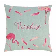 Buy *18712U - Flamingo Paradise Feathers 17'' Decorative Accent Throw Pillow