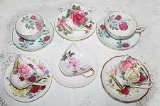 Buy Vintage Royal Albert Teacups & Saucers Lot of 6 Matched Sets Various Makers