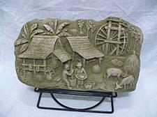 Buy THAI VILLAGE SAND STONE COLLECTIBLE VINTAGE WITH STAND