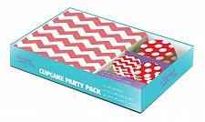 Buy *16437U - Red White Zig Zag Cupcake Party Pack 40 Napkins 24 Toppers 25 Liners