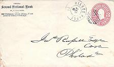Buy U58 Used Circa 1868 Wilkes Barre PA to Philly, Bank Advertising Corner Cover