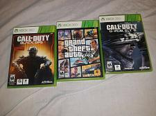 Buy 3 xbox 360 games call of duty grand theft auto 5 & black ops 2 *ADULT OWNED*