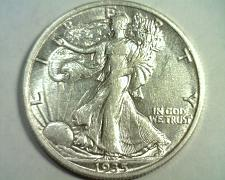 Buy 1935 WALKING LIBERTY HALF ABOUT UNCIRCULATED AU NICE ORIGINAL COIN BOBS COINS