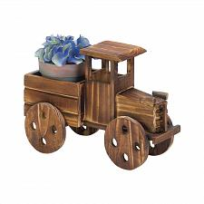Buy *18409U - Rustic Antique Truck Fir Wood Planter Yard Art