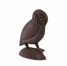 Buy *15808U - Owl Door Stopper Brown Cast Iron Figure