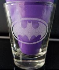 Buy Batman Laser Engraved Etched Shot Glass