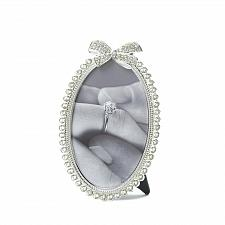 Buy *16946U - Beautiful Bow Rhinestone Oval Picture Frame Holds 4x6 Photo