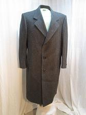 Buy C176 Men's Dark Grey Gray 100% Wool Overcoat Size 40 Long Dress Coat Topcoat