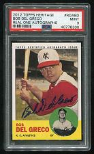 Buy 2012 TOPPS HERITAGE REAL ONE AUTO BOB DEL GRECO, PSA 9 MINT (40778300)