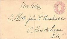 Buy U59, Circa 1867 to Hardie & Co. New Orleans, Steamboat Packet Boat Gov. Allen