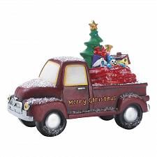 Buy *18585U - Light-Up LED Toy Delivery Red Merry Christmas Truck Figure