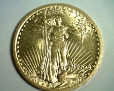 Buy 1908 NO MOTTO TWENTY DOLLAR SAINT GAUDENS CHOICE ABOUT UNCIRCULATED++ CH AU++