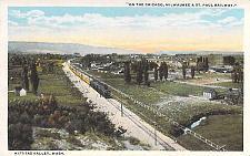 Buy On the Chicago Milwaukee & St. Paul Railway Kittitas Valley WA Vintage Postcard