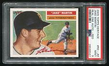 Buy 2005 TOPPS HERITAGE REAL ONE RED AUTO JAKE MARTIN PSA 9 MINT (28598567)
