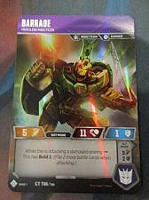 Buy Wizards of the Coast 2018 Transformers CCG Barrage Foil WOTC TCG IN HAND