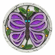 """Buy *18538U - Purple Butterfly 10"""" Cement Garden Stepping Stone"""