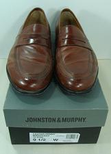 Buy Johnston & Murphy Mens Leather Shoes Vauter Penny Loafer Semi-Dress 9.5W 15-0782