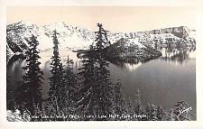Buy Crater Lake National Park in Winter Dress Oregon Real Photo Postcard RPPC