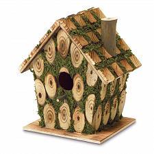 Buy 37921U - Moss Edged Decorative Wood Birdhouse