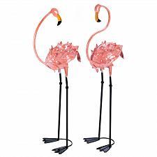 Buy 13772U - Flamboyant Pink Flamingo Wrought Iron Yard Art Garden Stakes