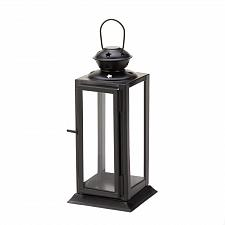 Buy *15418U - Black Colonial Rectangle Starlight Candle Lantern