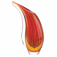 Buy 13907U - Crimson Sunset Unique Hand Crafted Art Glass Vase Decorative Accent