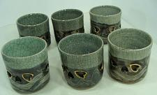 Buy 6 Vintage Somayaki Hand Crafted Tea Cup Set Double-Walled Made in Japan EUC LotB
