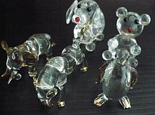 Buy VINTAGE ANIMAL HAND BLOWN GLASS FIGURINES MINIATURE COLLECTIBLES GIFTS A