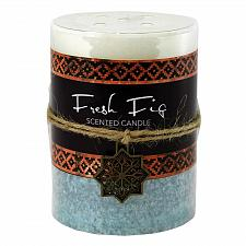 Buy :10931U - Fresh Fig Moroccan Pillar Candle 3X4 Palm Wax 60 Hr Burn Time