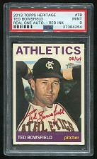 Buy 2013 TOPPS HERITAGE REAL ONE RED AUTO TED BOWSFIELD PSA 9 MINT (27384254)