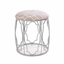 Buy *16181U - Moroccan Style White Iron Padded Neutral Wish Stool