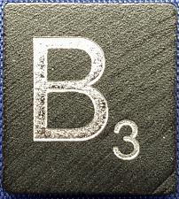 Buy Scrabble Tiles Replacement Letter B Black Wooden Craft Game Piece Diamond Ann.