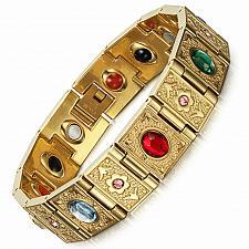 Buy Elvis Presley TCB NY 1972 Concert Jumpsuit Stage Men Chain Bracelet Stone Health