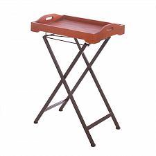 Buy *16171U - Rustic Spirit Folding Wood & Metal Tray Table