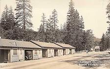 Buy Cottages at Brown's Auto Park Real Photo Vintage Postcard