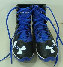 Buy Under Armour Football Cleats Youth Sz 5.5 1269697-041 Highlights Black/Royal Blu