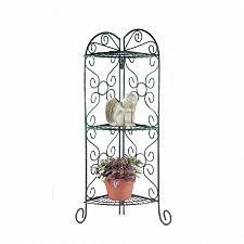 Buy 27128U - Verdigis Style Metal Corner Plant Stand Shelves